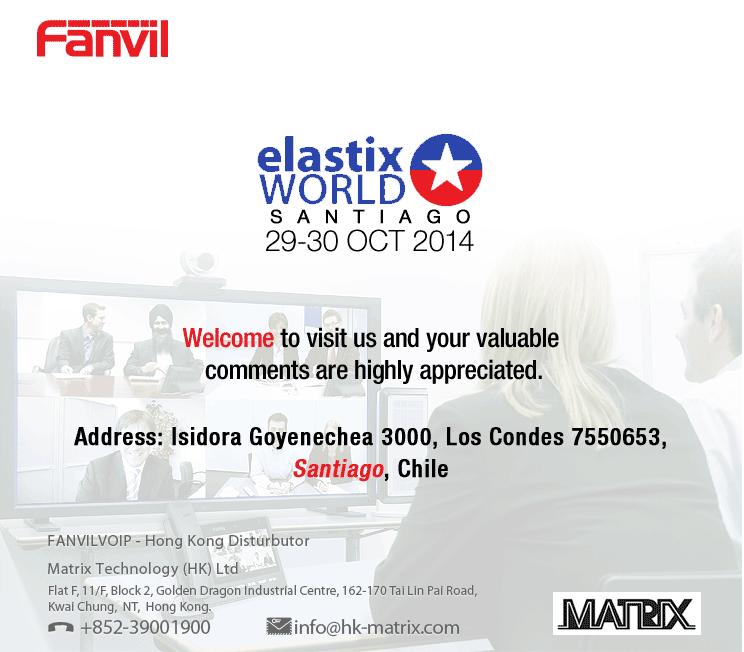 Fanvil @ Elastix world 2014 – Santiago, Chile